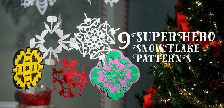 Superhero Snowflake Patterns