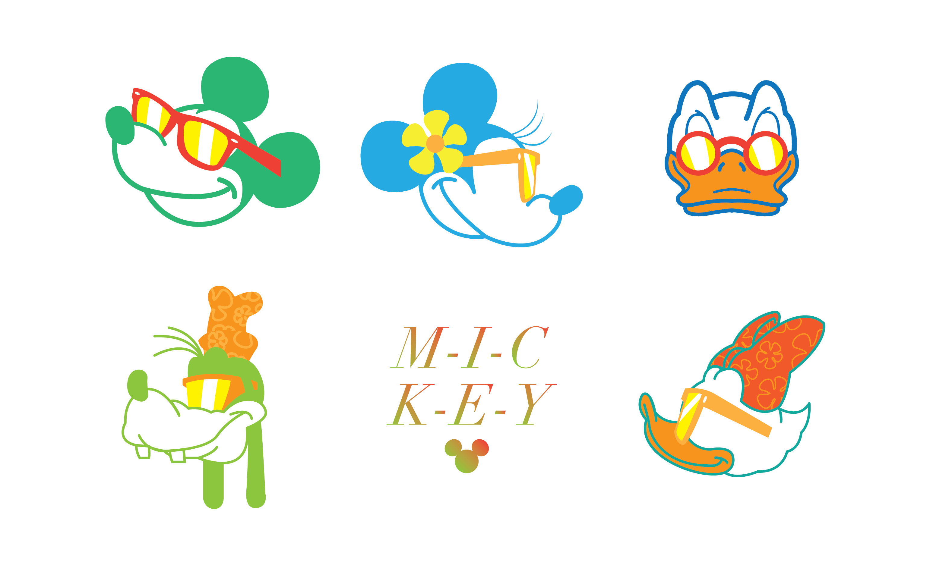 Modern Mickey and Friends Designs