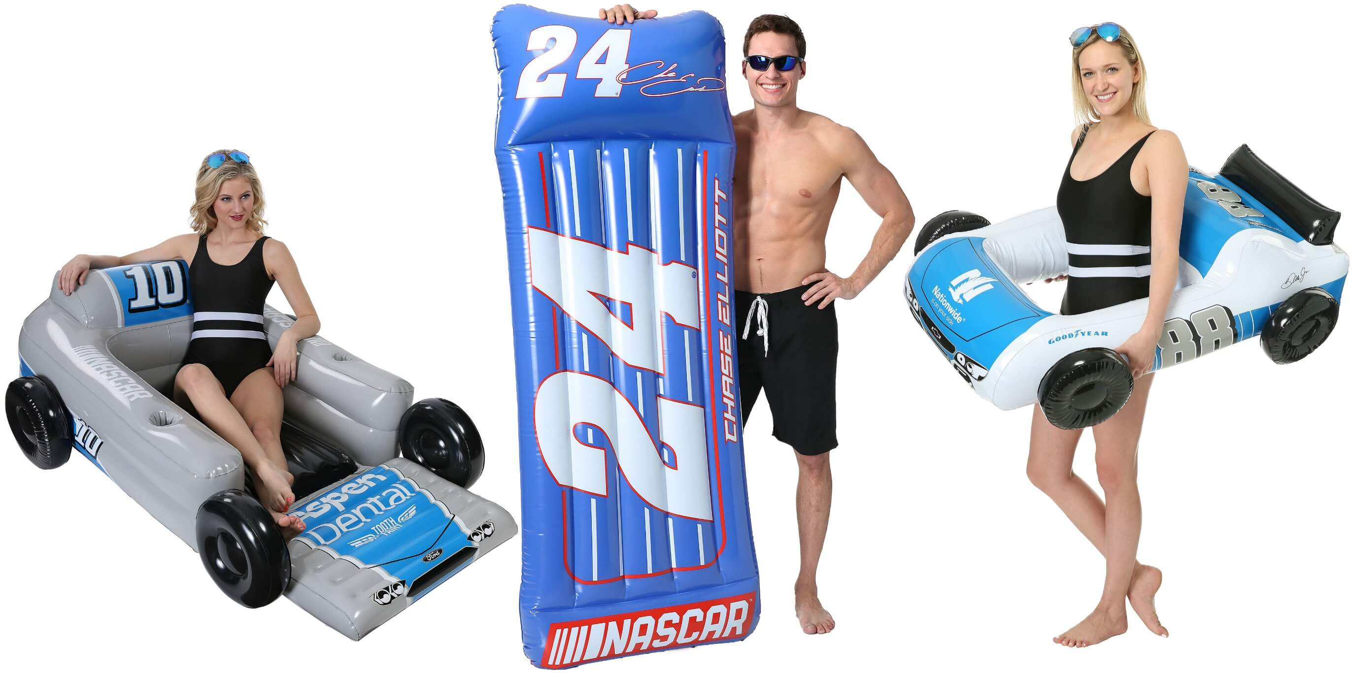 pool party theme for NASCAR fans