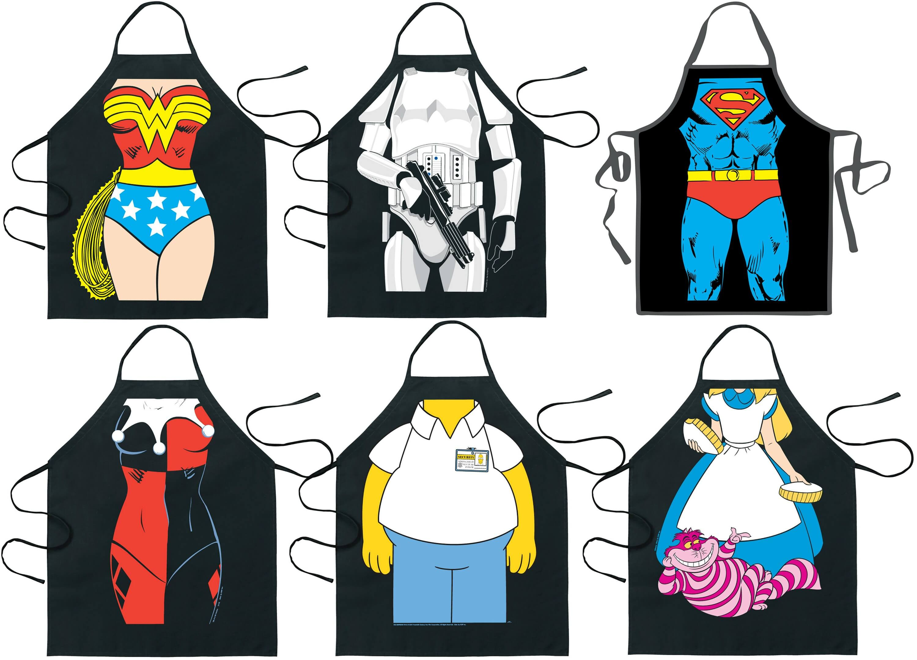 character aprons for the unique BBQ party