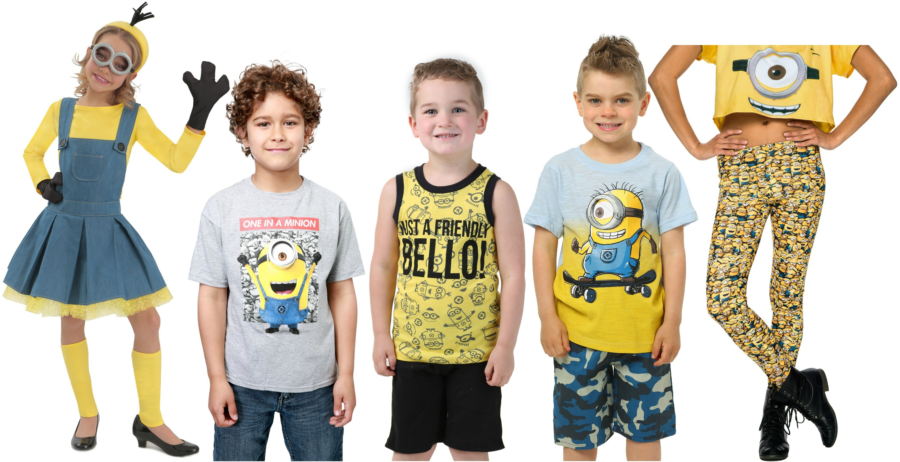 apparel for a minions themed birthday party
