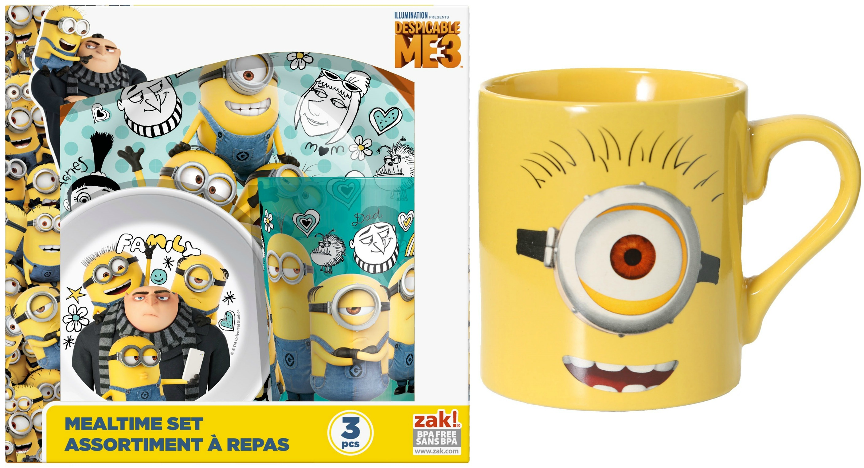 dishes for a minion themed birthday party