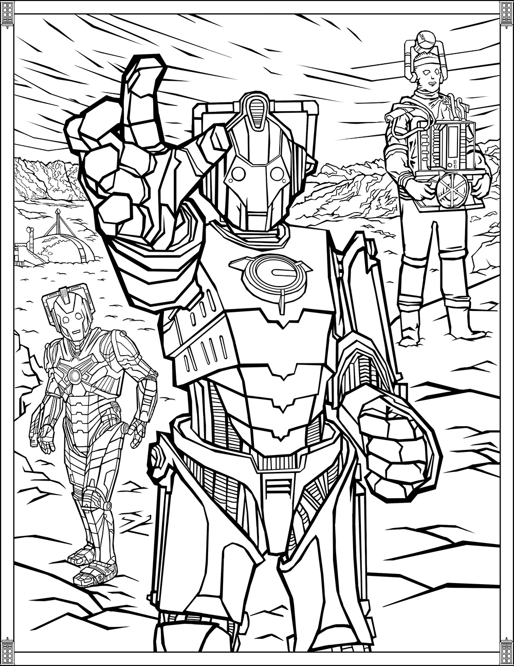 Doctor Who: Wibbly Wobbly Timey Wimey Coloring Pages ...