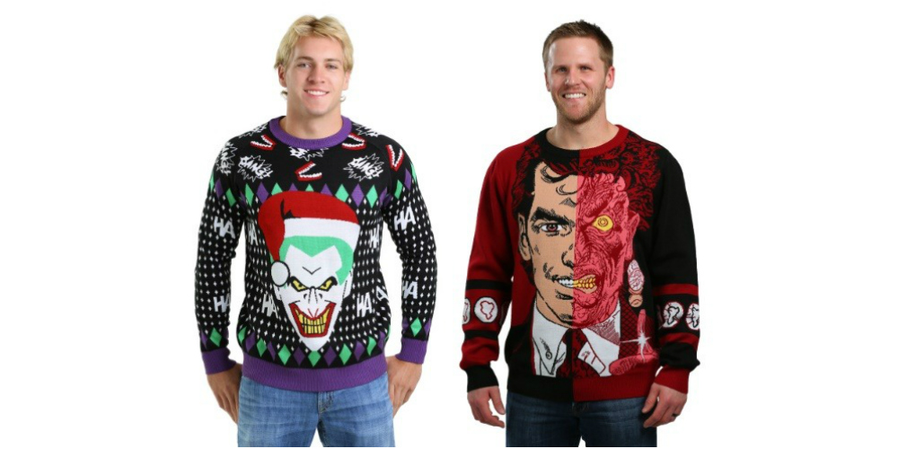 DC Villains Ugly Christmas Sweaters
