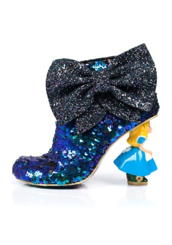 IRREGULAR CHOICE ALICE IN WONDERLAND WHO AM I SEQUINED BOOT