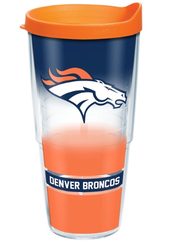 NFL DENVER BRONCOS 24 OZ TUMBLER W/ ORANGE LID