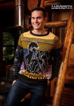 Labyrinth Movie Logo Ugly Christmas Sweater