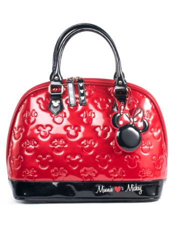LOUNGEFLY MICKEY AND MINNIE DISNEY EMBOSSED BAG