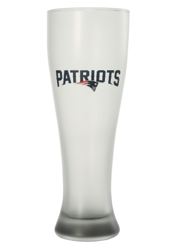 NEW ENGLAND PATRIOTS 23OZ FROSTED PILSNER GLASS