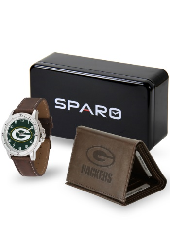 NFL GREEN BAY PACKERS WATCH AND WALLET SET