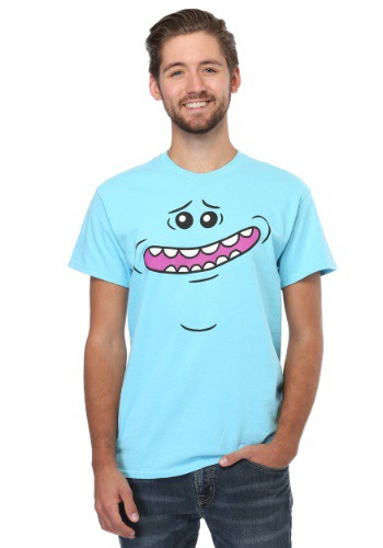 RICK AND MORTY MEESEEKS FACE MEN'S T-SHIRT