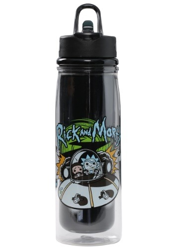 RICK AND MORTY SPACESHIP ACRYLIC WATER BOTTLE