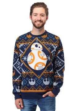 Adult Star Wars BB8 Navy Ugly Christmas Sweater