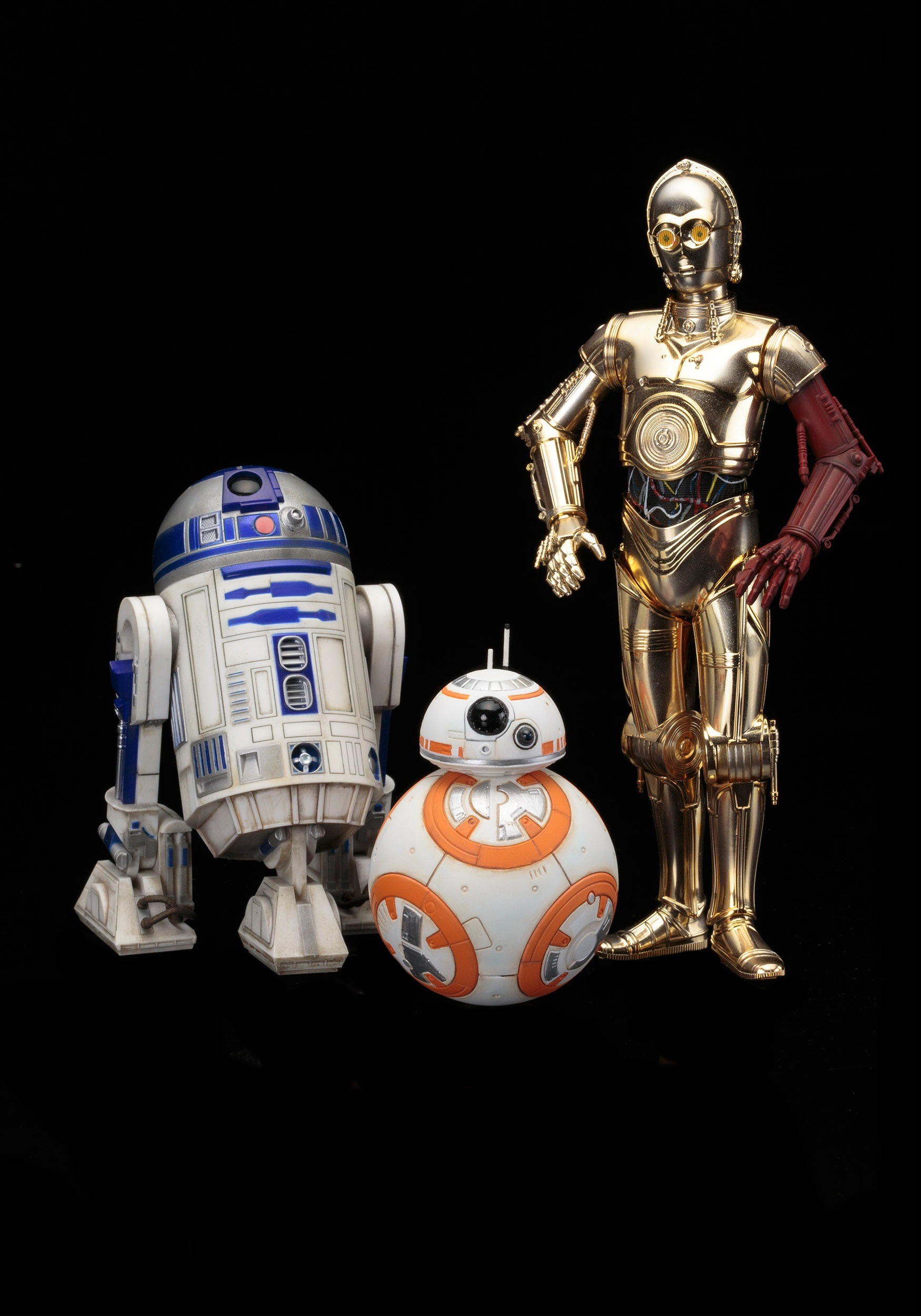 STAR WARS C-3PO & R2-D2 WITH BB-8 ARTFX STATUE SET