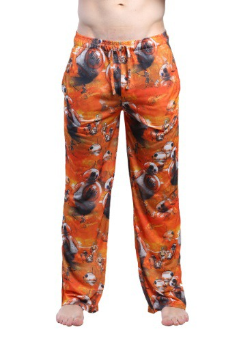 STAR WARS MEN'S DEEP THOUGHTS BB-8 LOUNGE PANTS