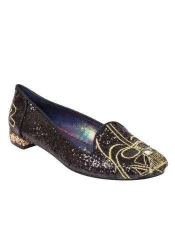 IRREGULAR CHOICE STAR WARS VADER SPARKLE WOMEN'S FLAT