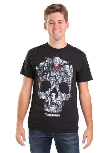 THE WALKING DEAD SKULL MONTAGE T-SHIRT