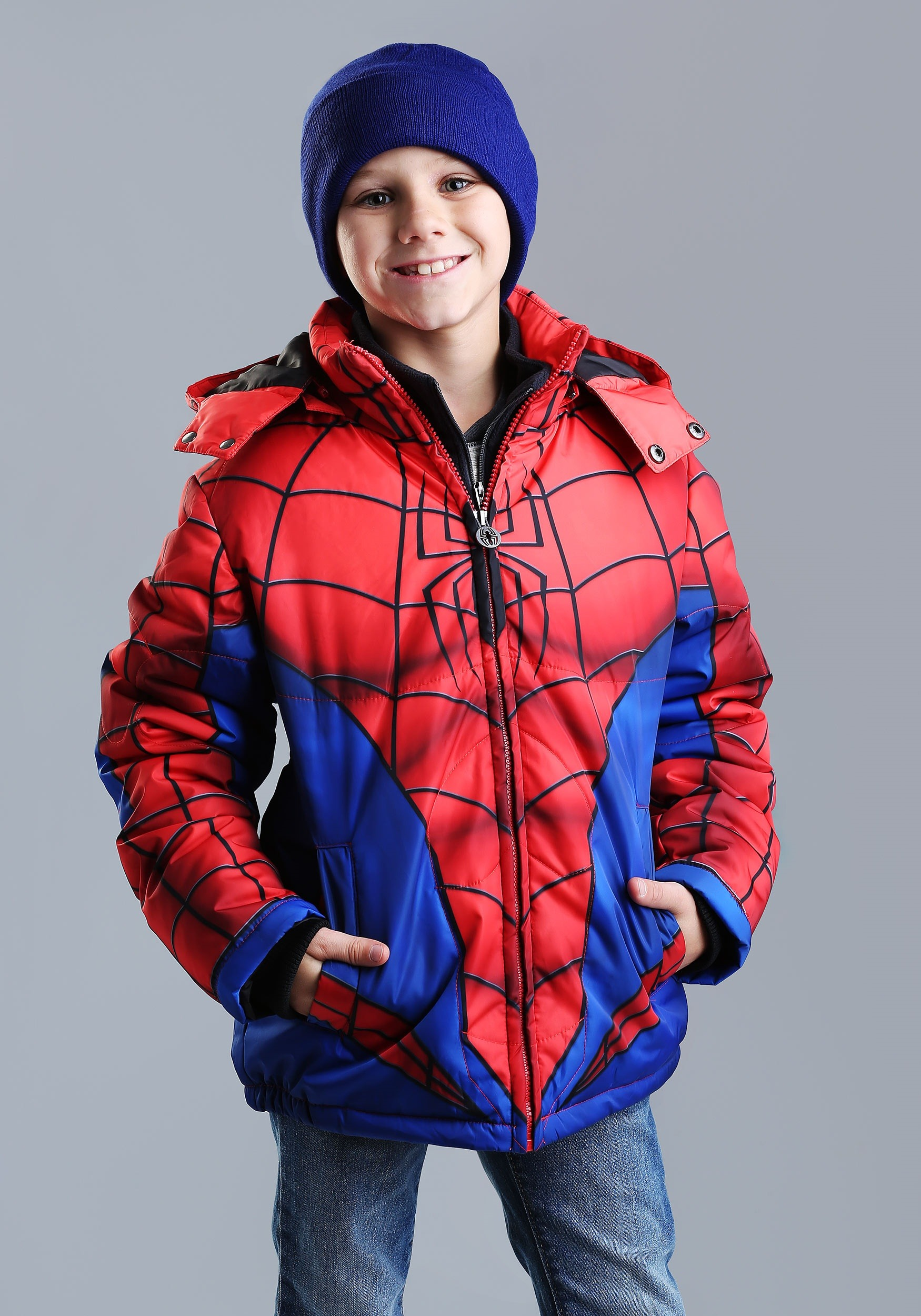 Child Spider-Man Muscle Puffer Jacket