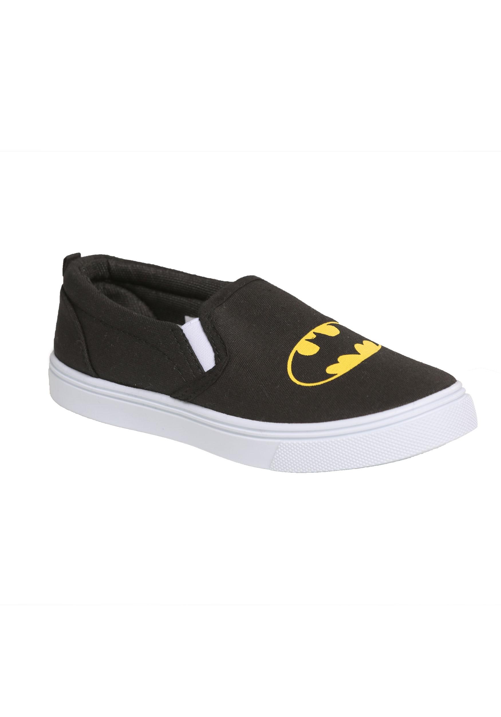 Batman Logo Kids Slip-On Canvas Shoes