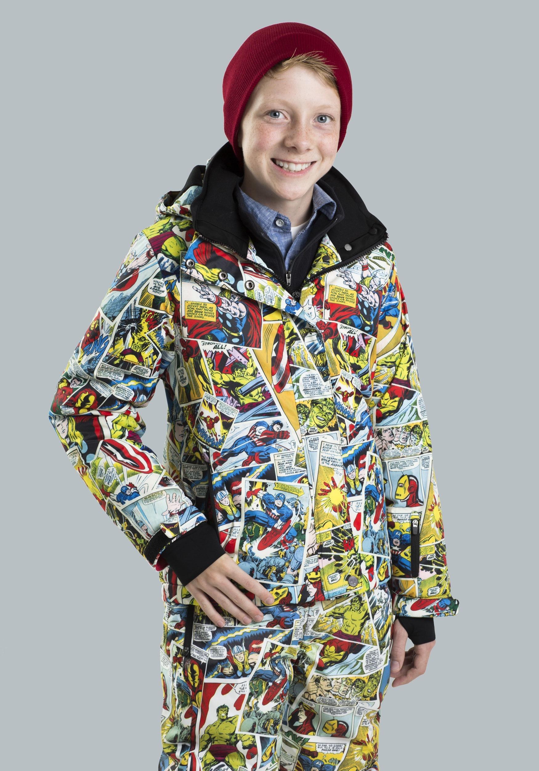 Kids Marvel Comic Print Snow Jacket