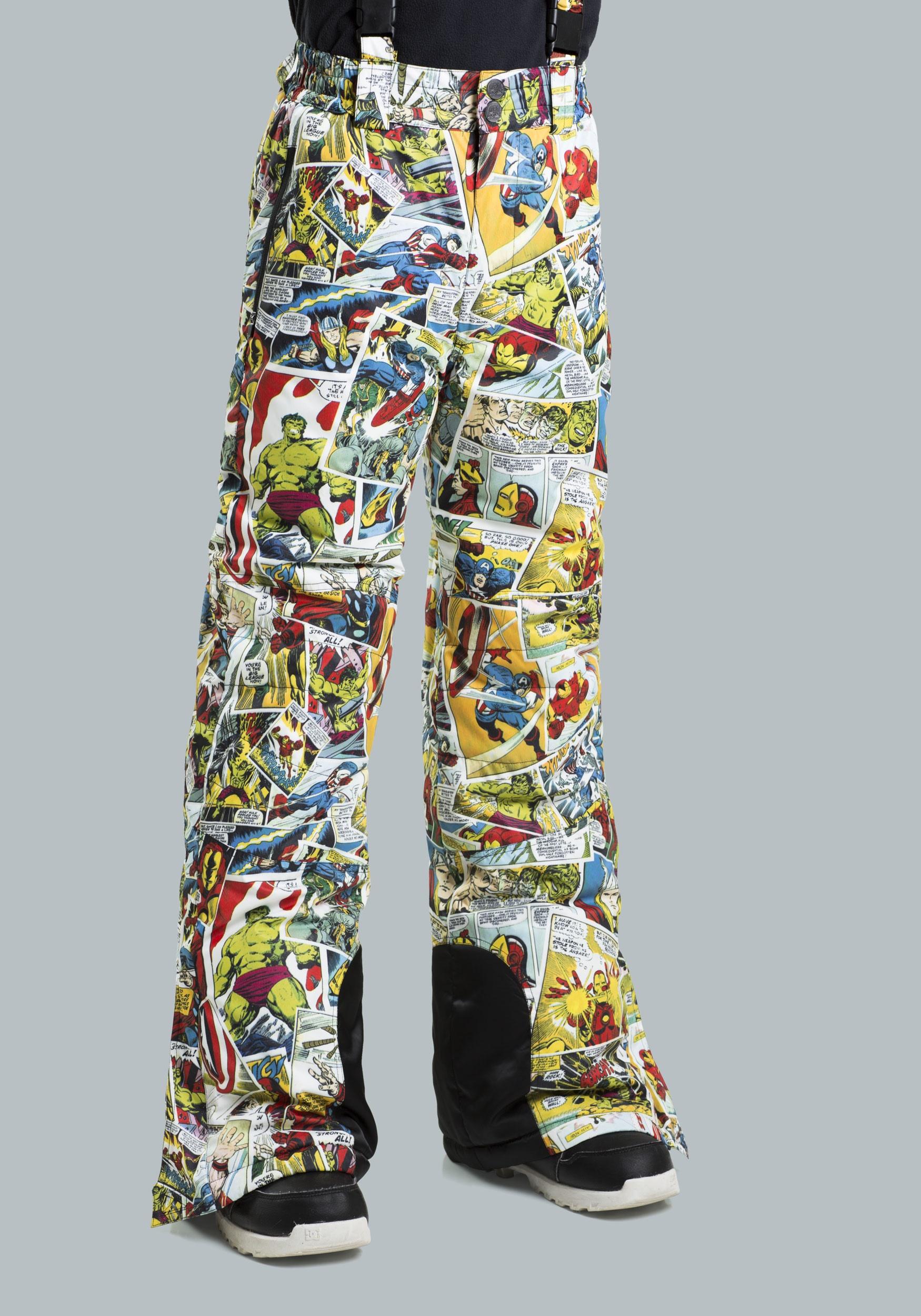 Kids Marvel Comic Print Snow Pants