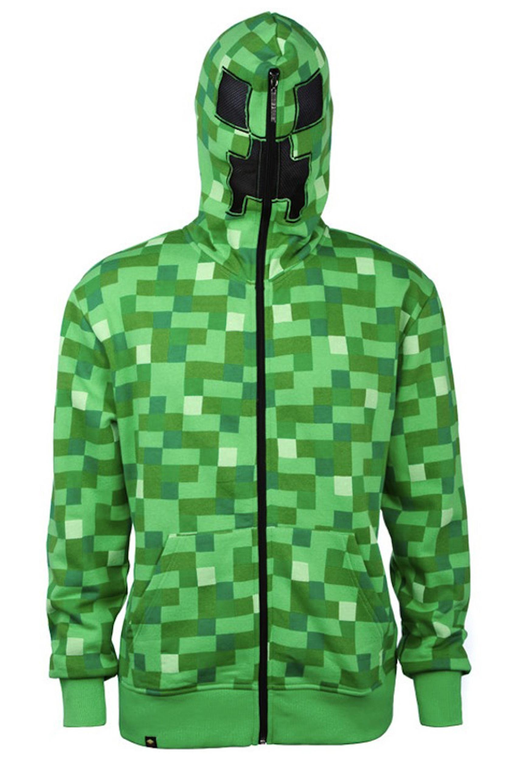 Kids' Minecraft Creeper Hooded Sweatshirt