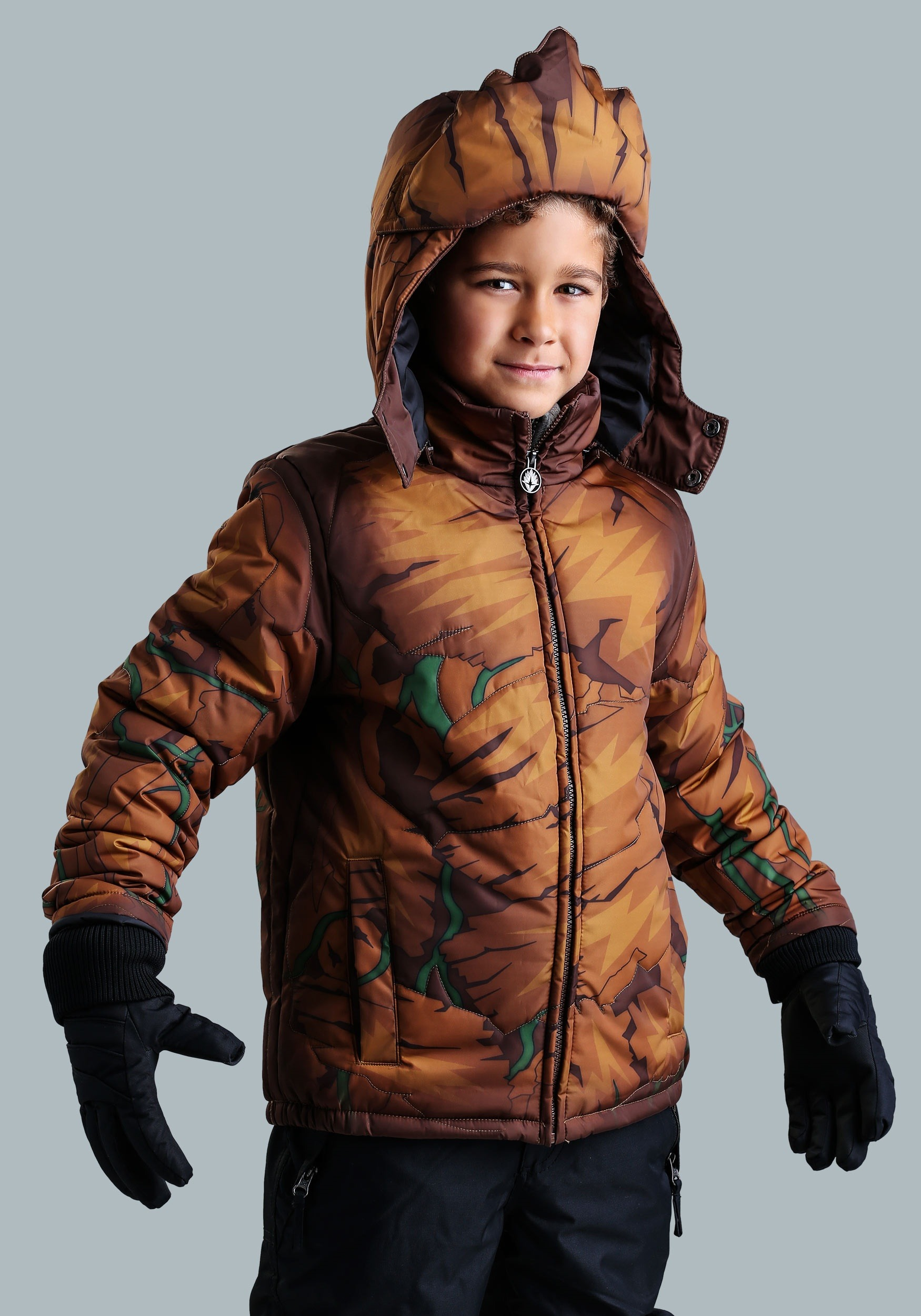 Marvel Groot Boys Puffer Coat