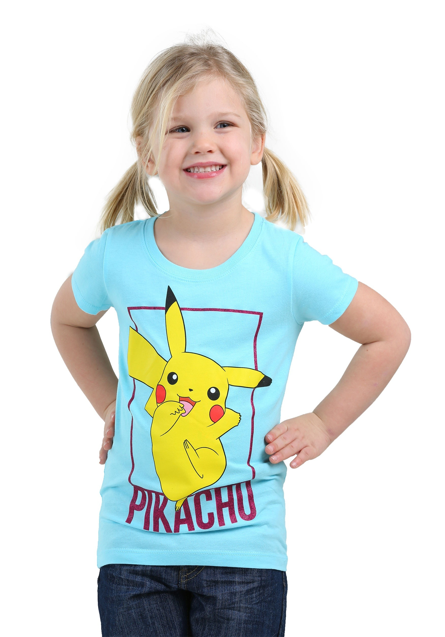 Pikachu Blue Tee for Girls