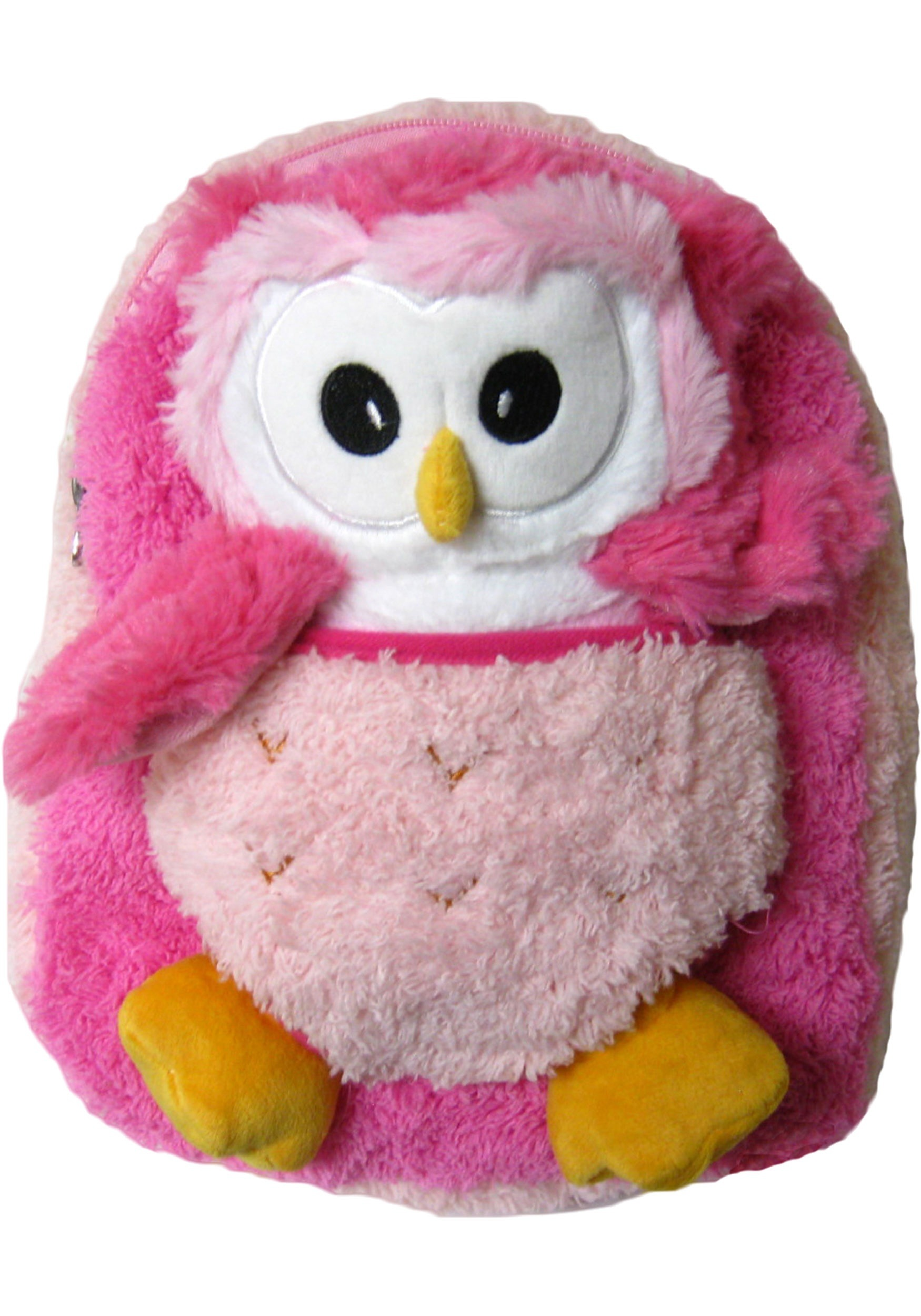 Pink Owl Plush Animal Backpack
