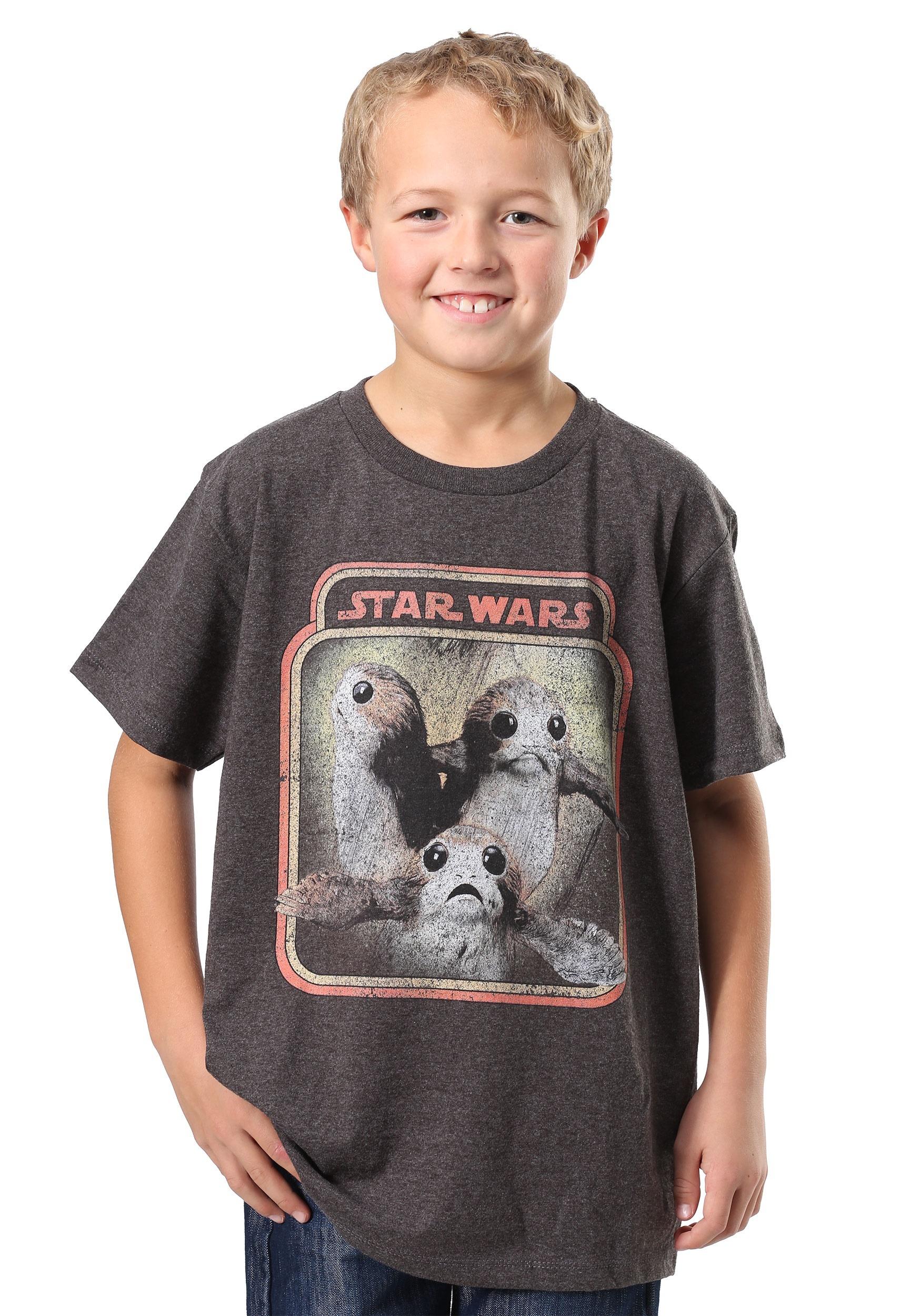 Star Wars The Last Jedi Porgs Trio Boys T-Shirt