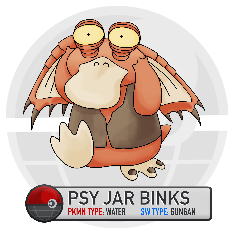 Jar Jar Binks Psyduck Mash Up