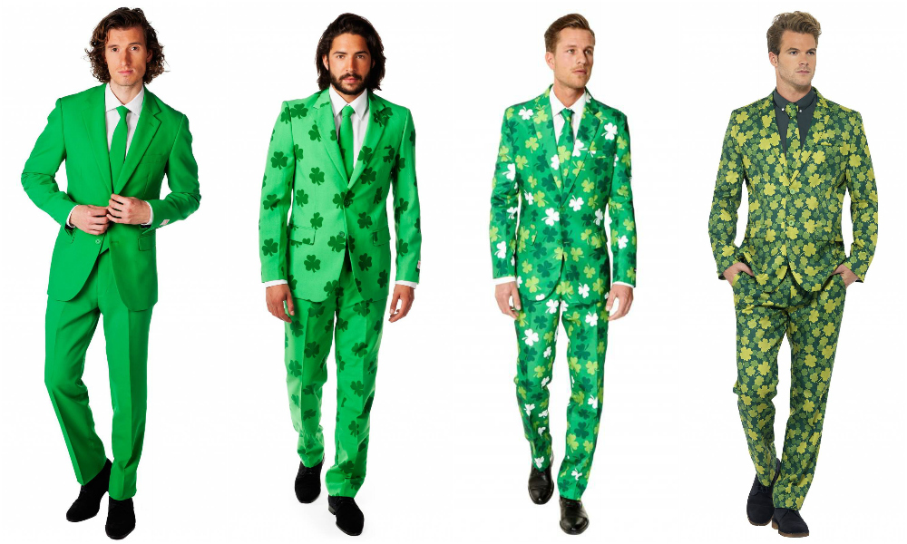 Green suits for St. Patrick's Day