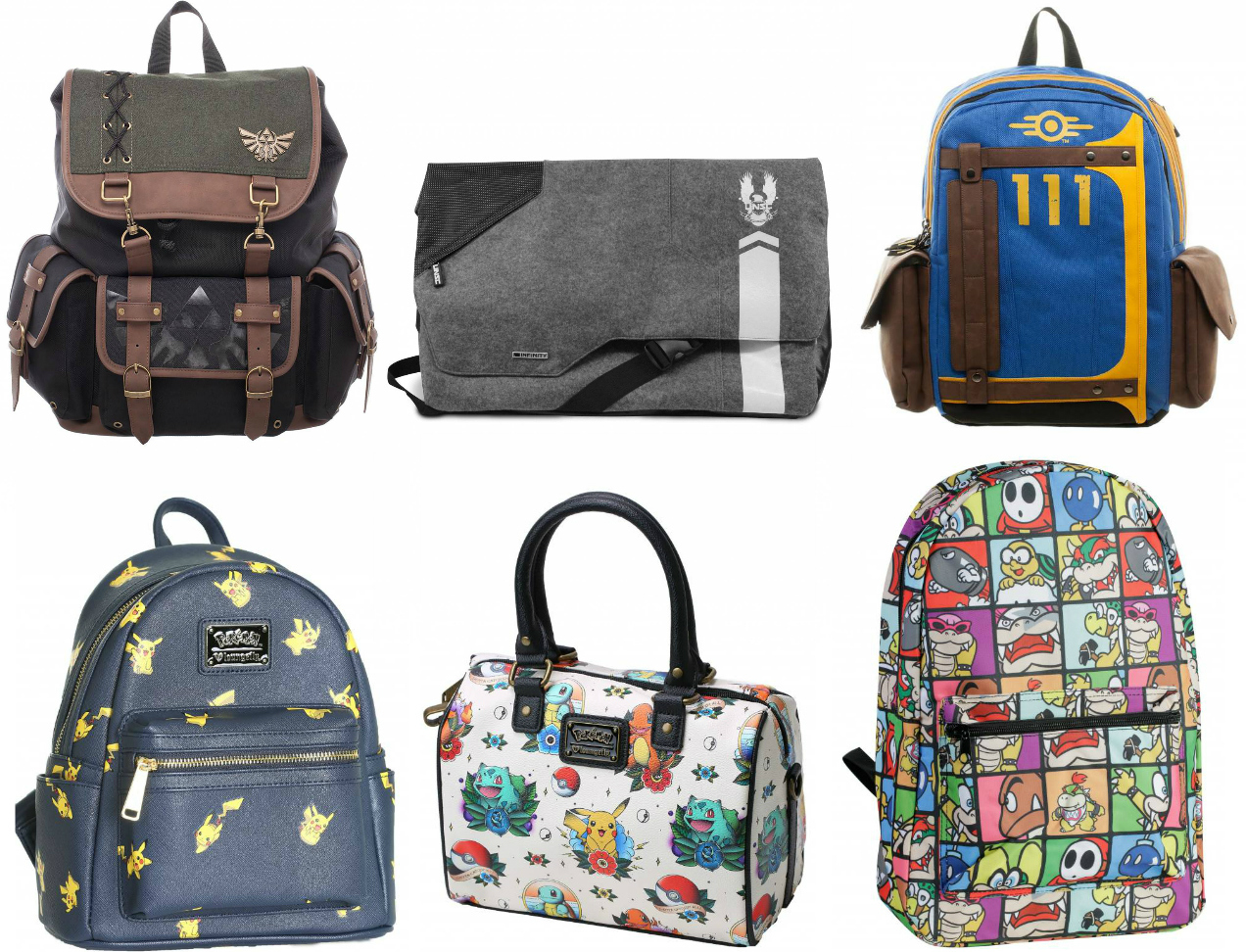 Video Game Merch Backpacks and Bags