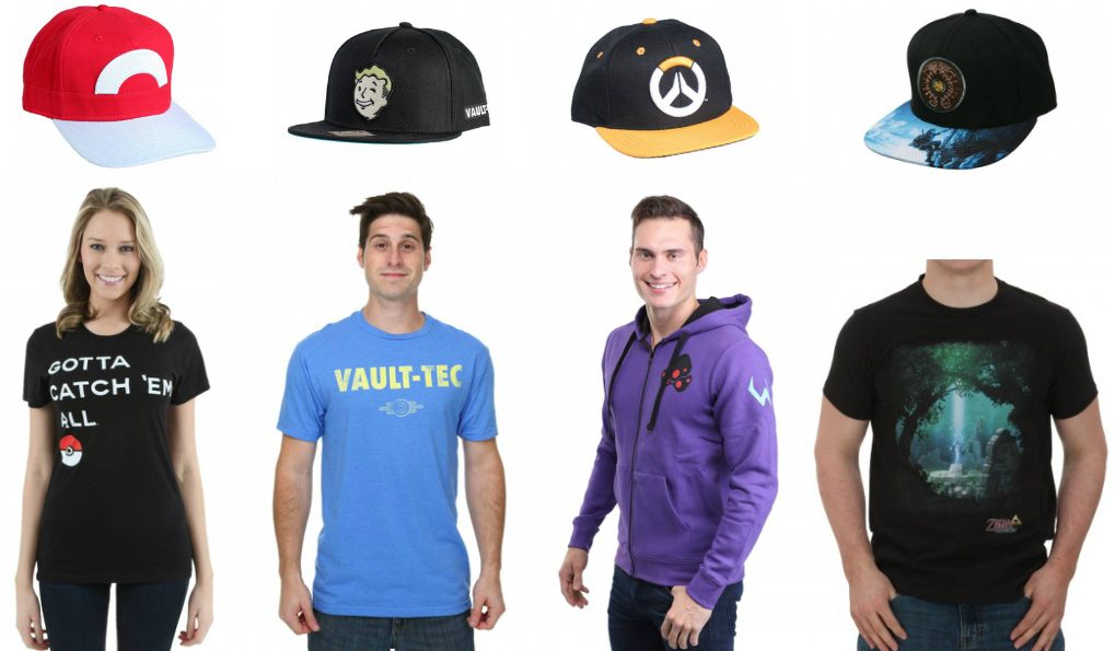 Video Game Merch Shirts and Hats
