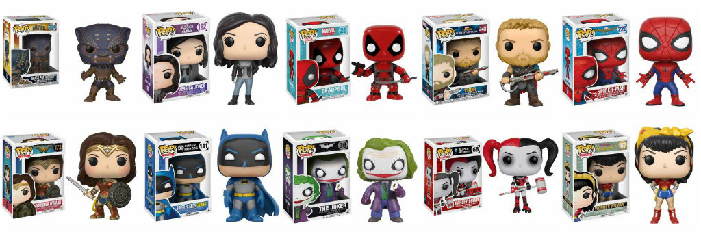 Superhero Pop Vinyl Figures