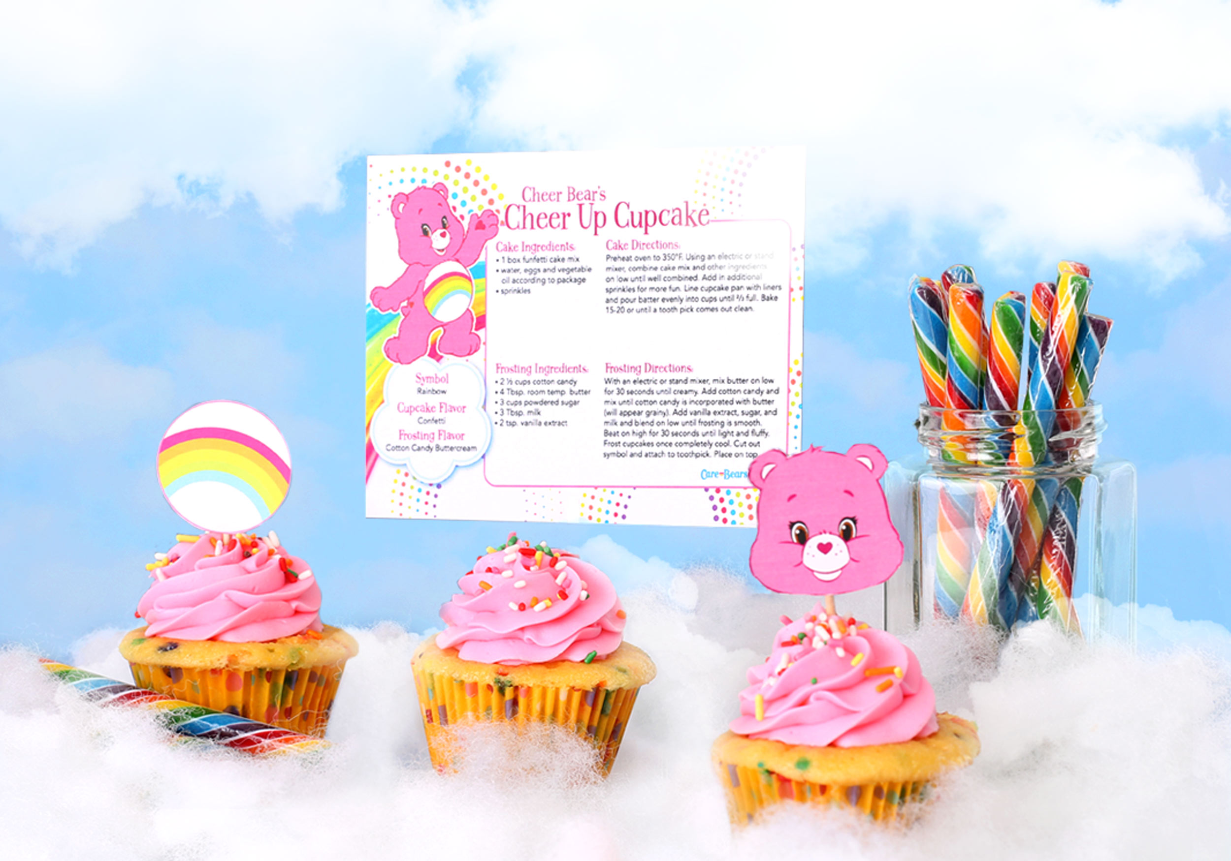 Cheer Bear cupcake recipe