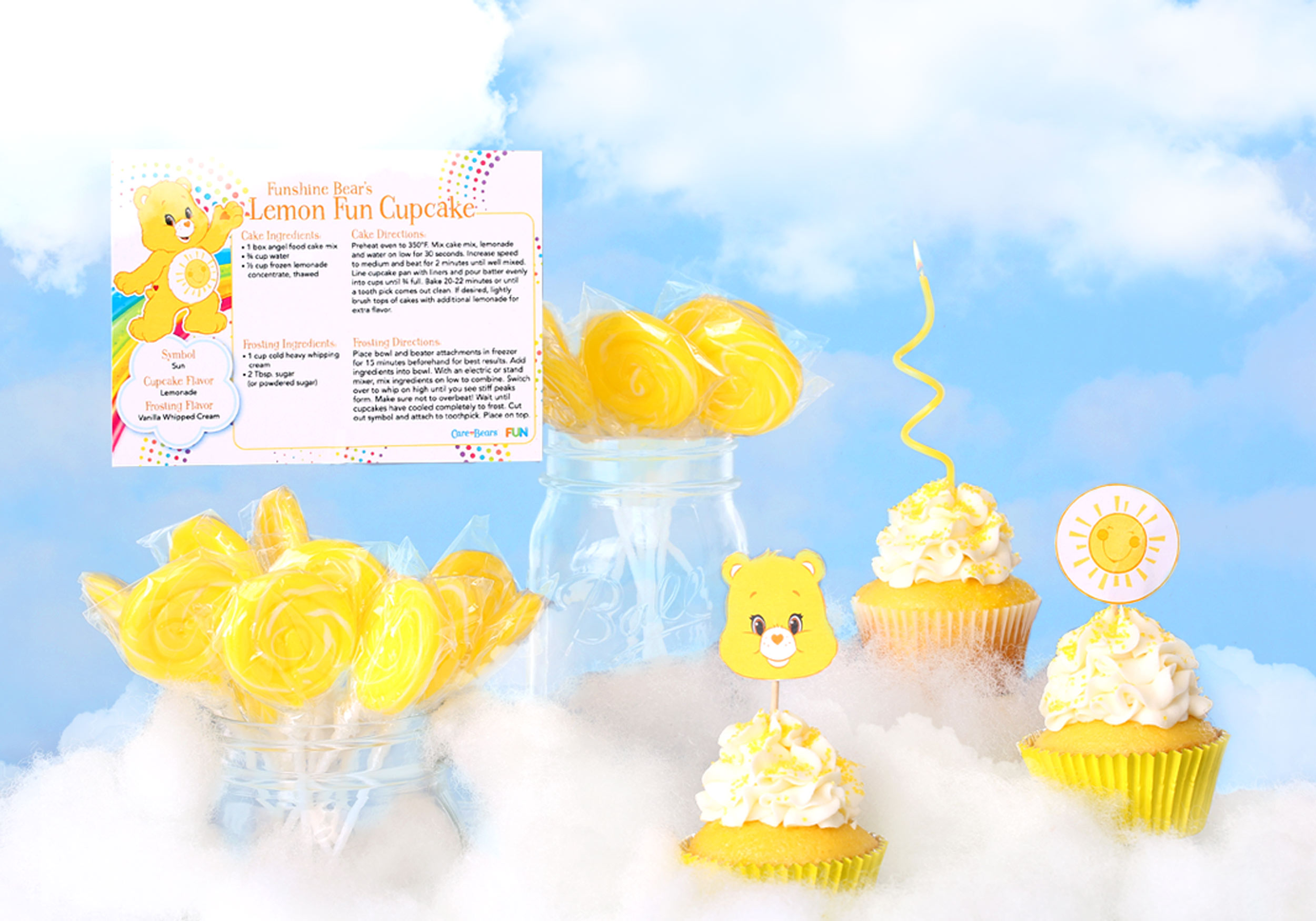 Funshine Bear recipe card