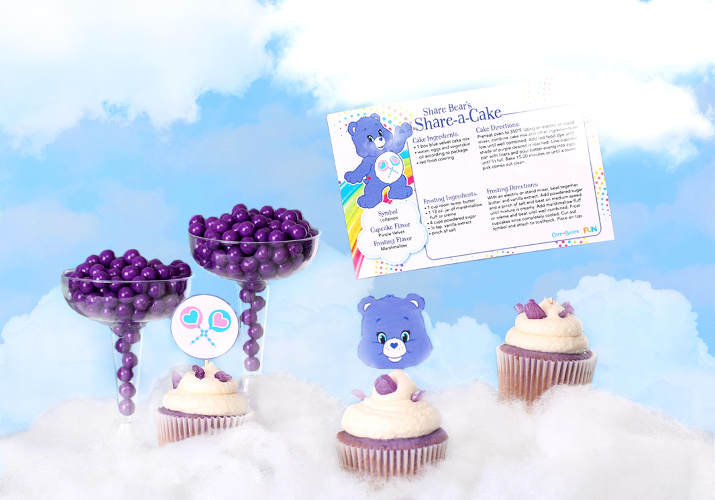 Share Bear cupcakes