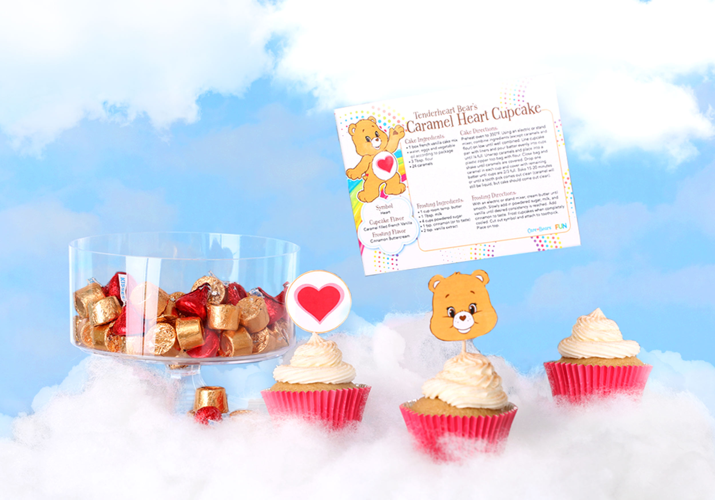 Tenderheart cupcake recipe card