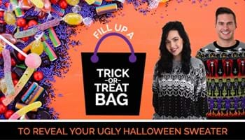 Fill Up a Trick-or-Treat Bag to Reveal Your Ugly Halloween Sweater