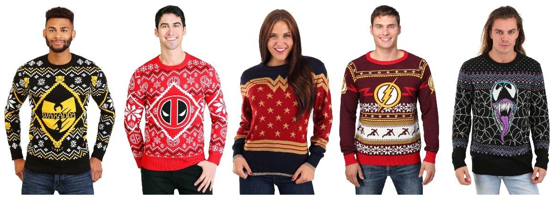 Superhero Ugly Christmas Sweaters