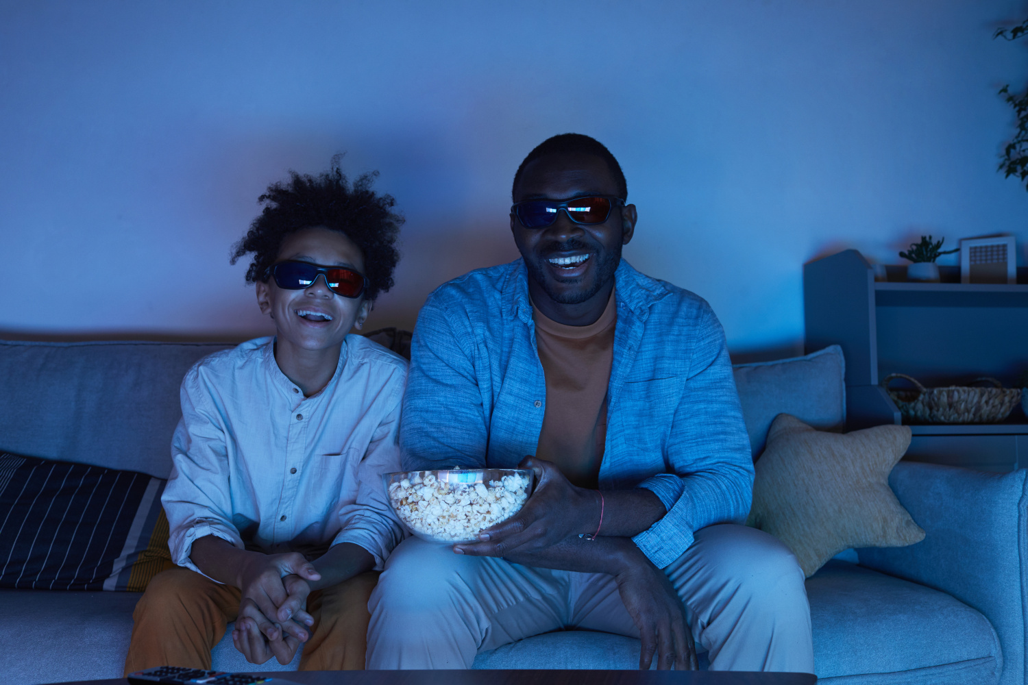Father and Son Movie Night
