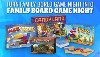 Turn Family Bored Game Night into Family Board Game Night