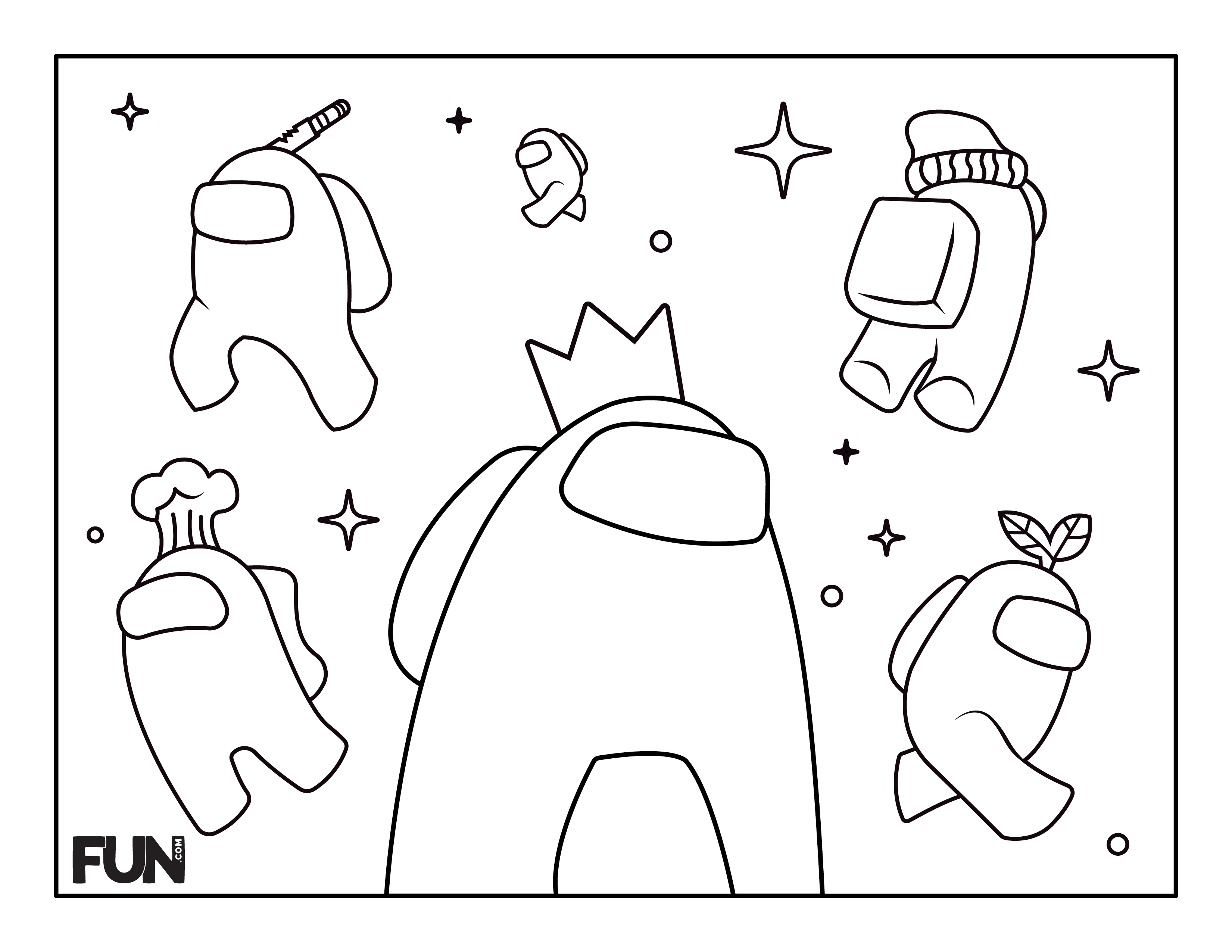 Among Us coloring page