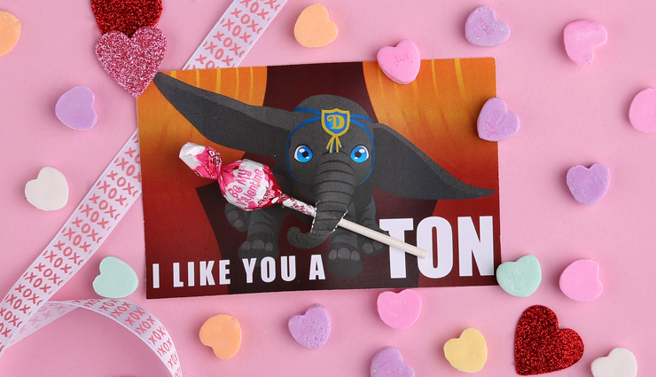 Dumbo Valentine's Day Printable Card