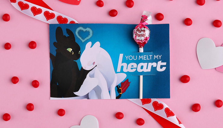 How to Train Your Dragon Valentine's Day Card