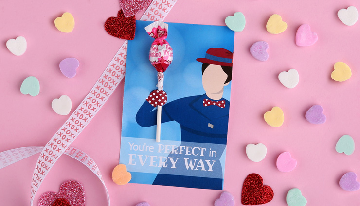 Mary Poppins Valentine's Day Card