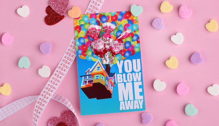 Up Valentine's Day Printable Card