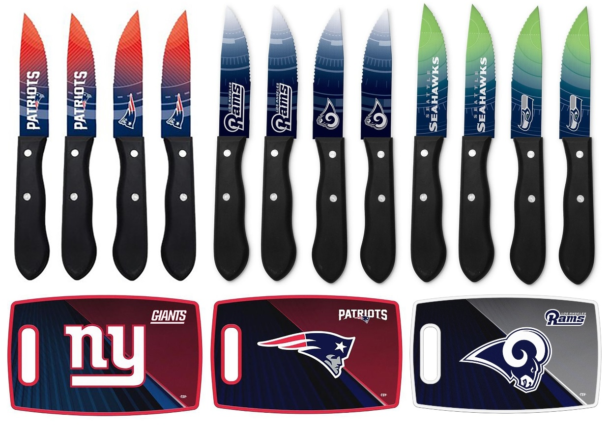 Sports Team Steak Knives and Cutting Boards