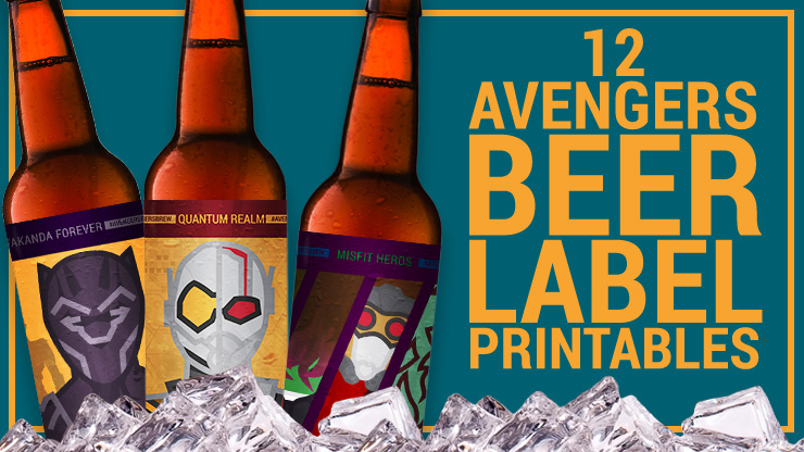 12 Avengers Beer Label Printables